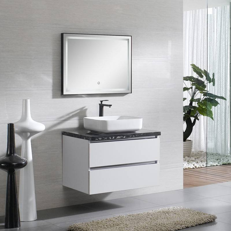 high glossy white wall mounted bathroom cabinet