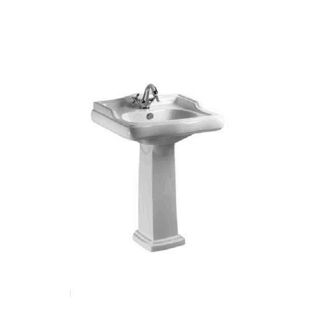 Ceramic Washbasin With Pedestal - Laredo Series