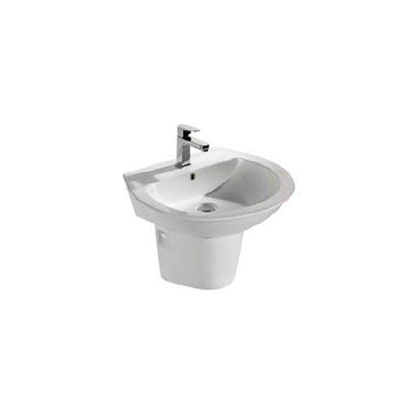 Ceramic Washbasin with Pedestal - Orchid Series