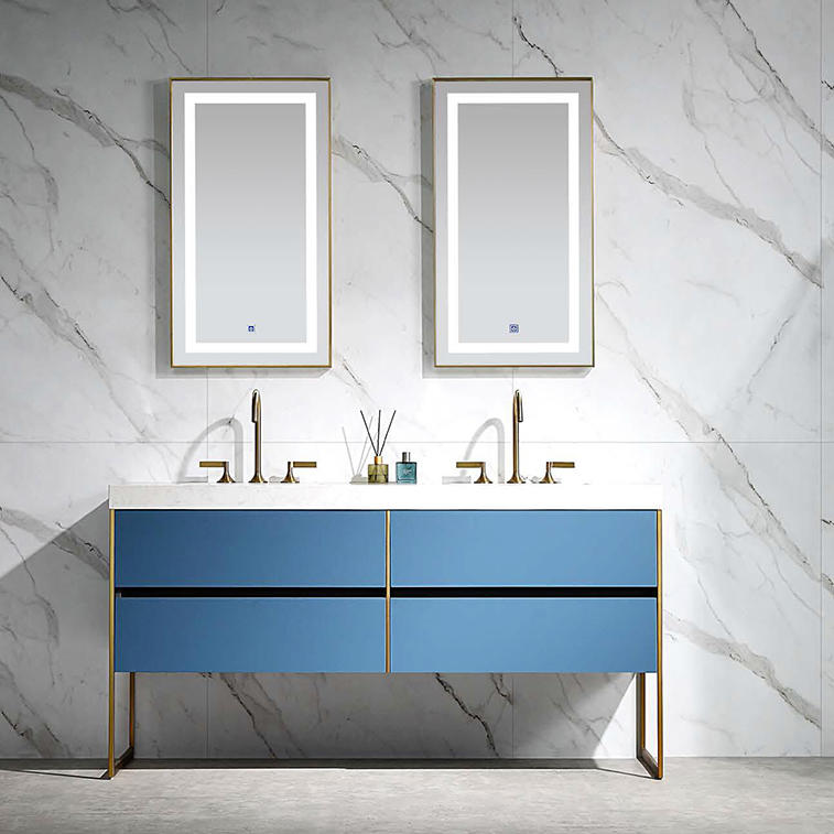 Blue Floor Standing Bathroom Cabinet - Bella Series