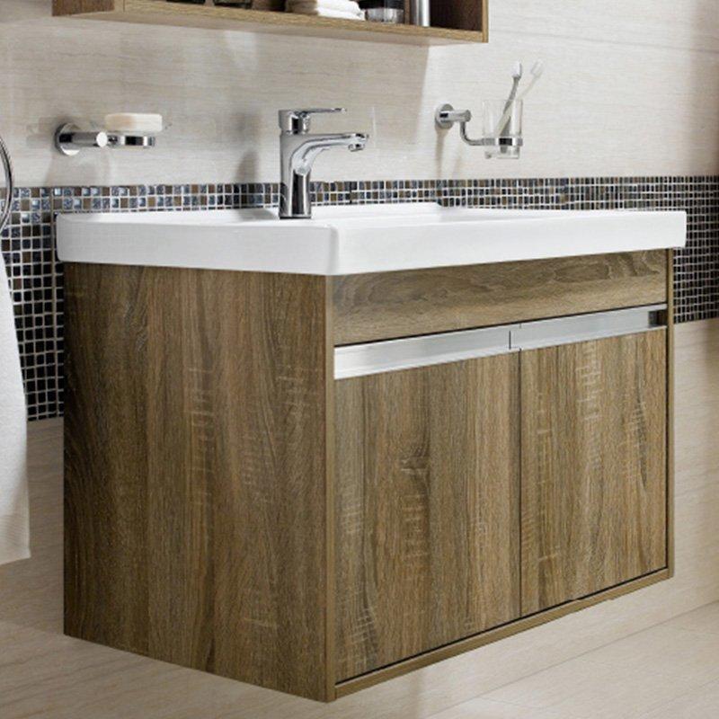 Brown Elm Wall Mounted Bathroom Cabinet