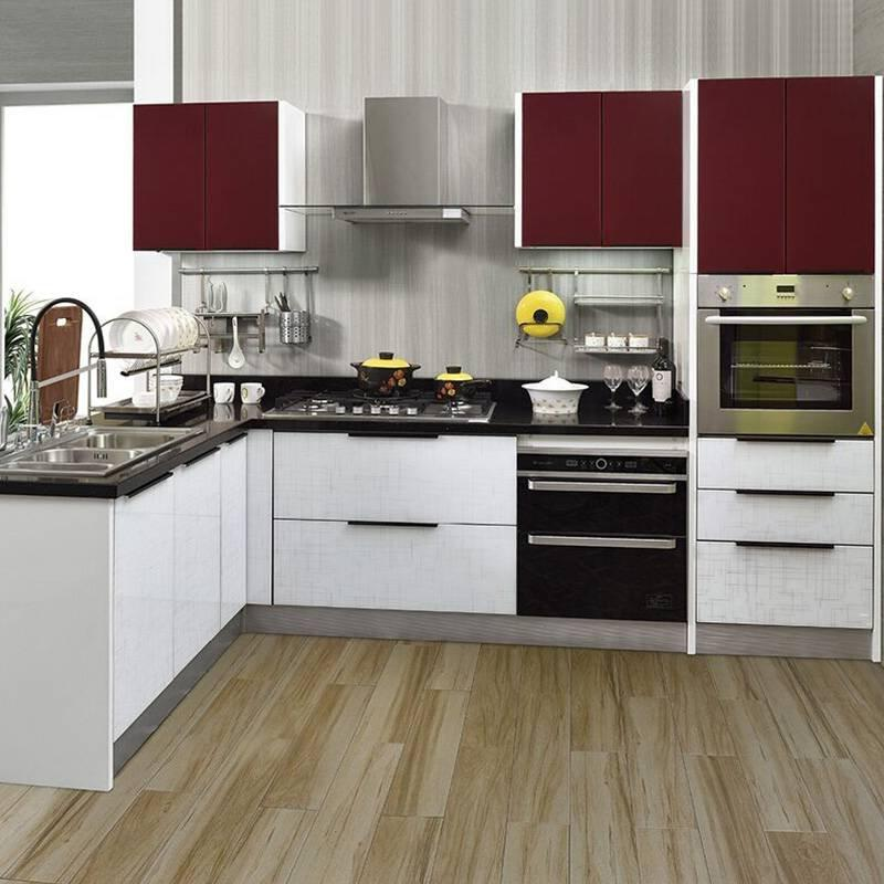 Modern Style Waterproof Plywood With High Glossy Kitchen Cabinet - Topaz Series