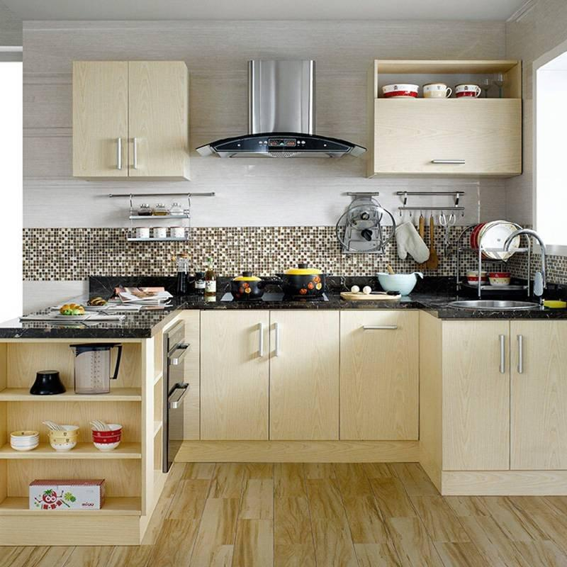 Waterproof Plywood With Melamine Surface Ktichen Cabinet - York Series