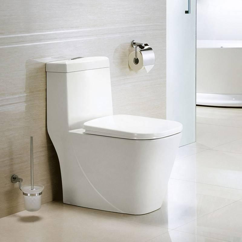 2433 Siphonic One-Piece Toilet 305MM Roughing-In Soft Close Seat Cover