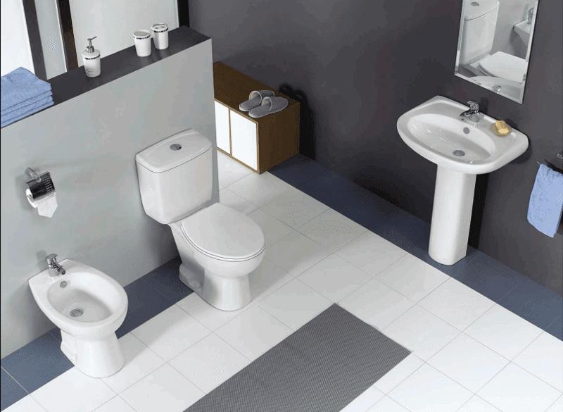 Ceramic Sanitary With Bidet, Closet & Washbasin With Pedestal - Boen Series