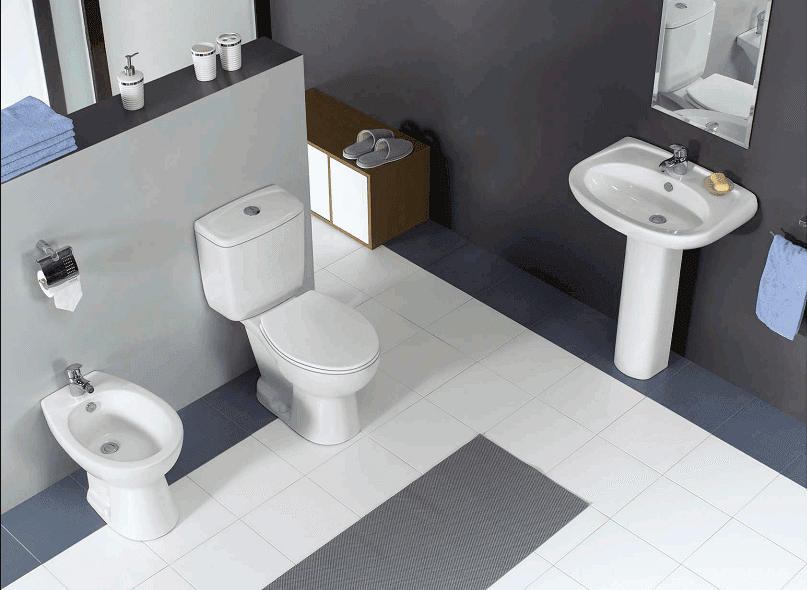 Ceramic Sanitary With Bidet, Closet & Washbasin With Pedestal - Boen Series