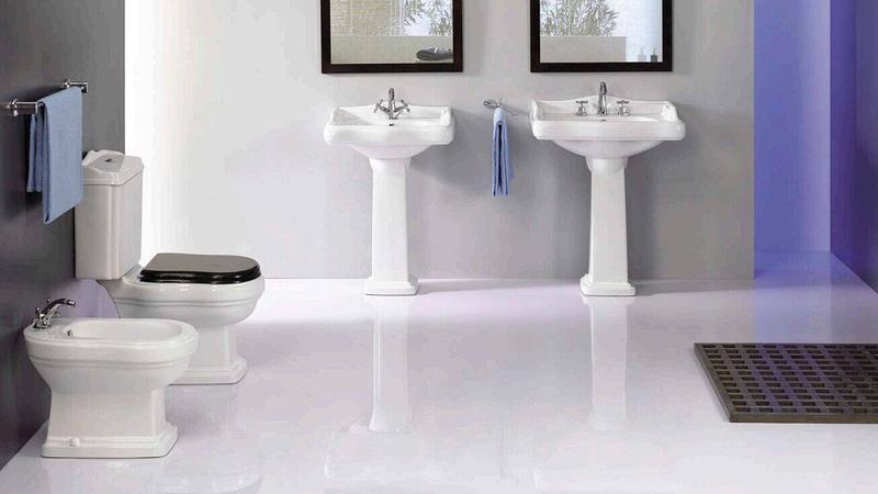Ceramic Sanitary With Toilet, Bidet & Washbasin With Pedestal - Laredo Series