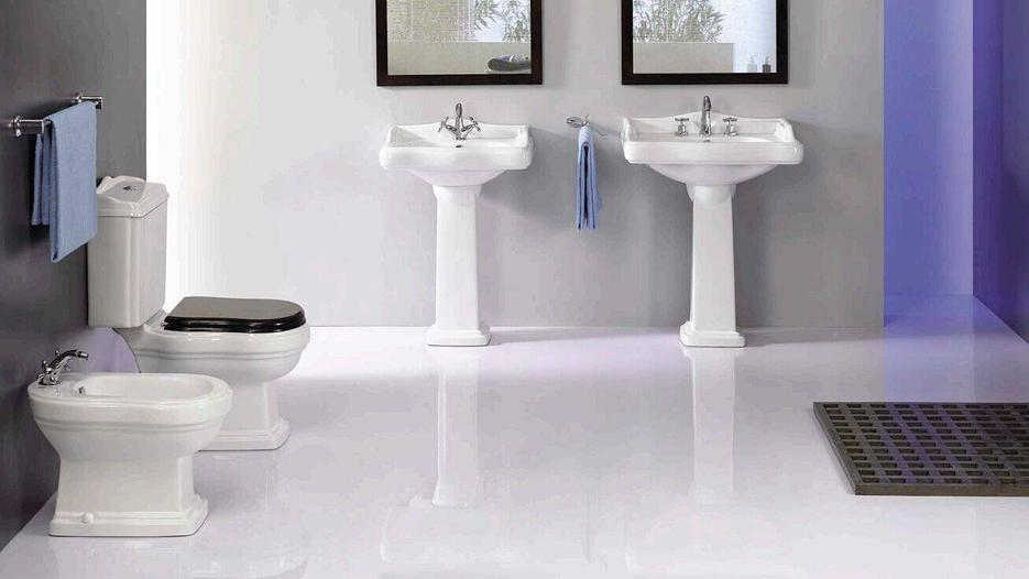 Ceramic Sanitary With Toilet, Bidet & Washbasin With Pedestal - Laredo Series