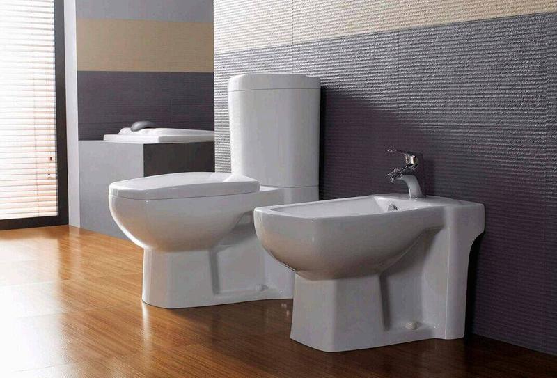 Ceramic Sanitary With Toilet, Bidet & Washbasin With Pedestal - Kandy Series