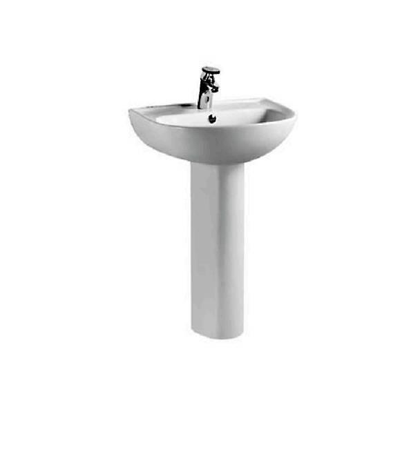 Ceramic  Washbasin With Pedestal - Athna Series