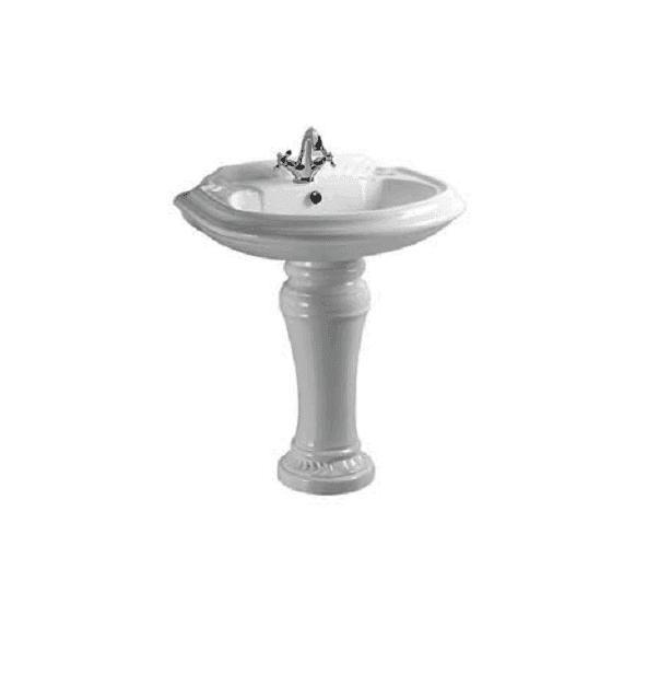 Ceramic Washbasin With Pedestal - King Palace Series