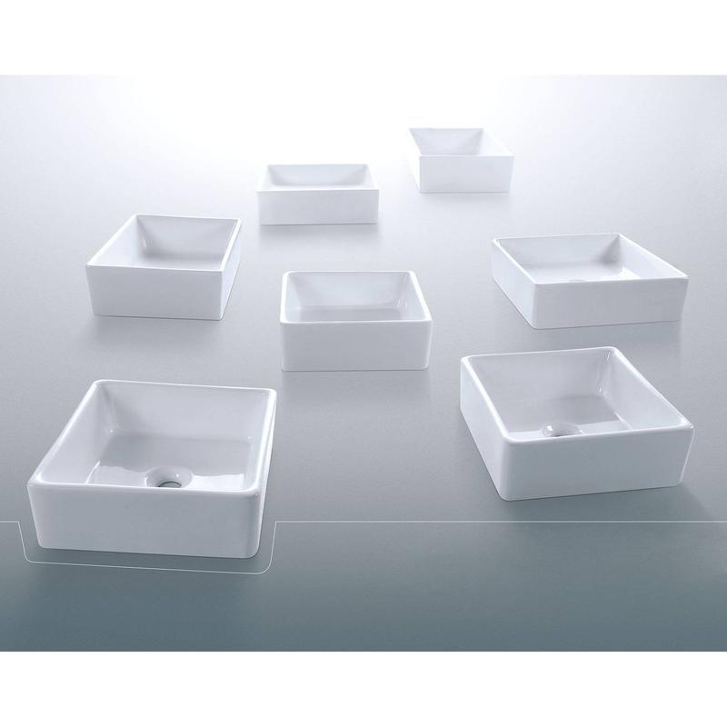 Square Shape Artistic Ceramic Basin