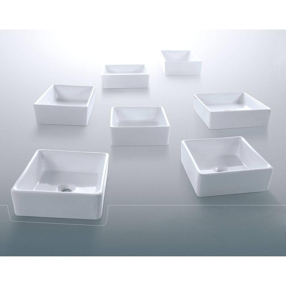 Square Shape Artistic Ceramic Basin
