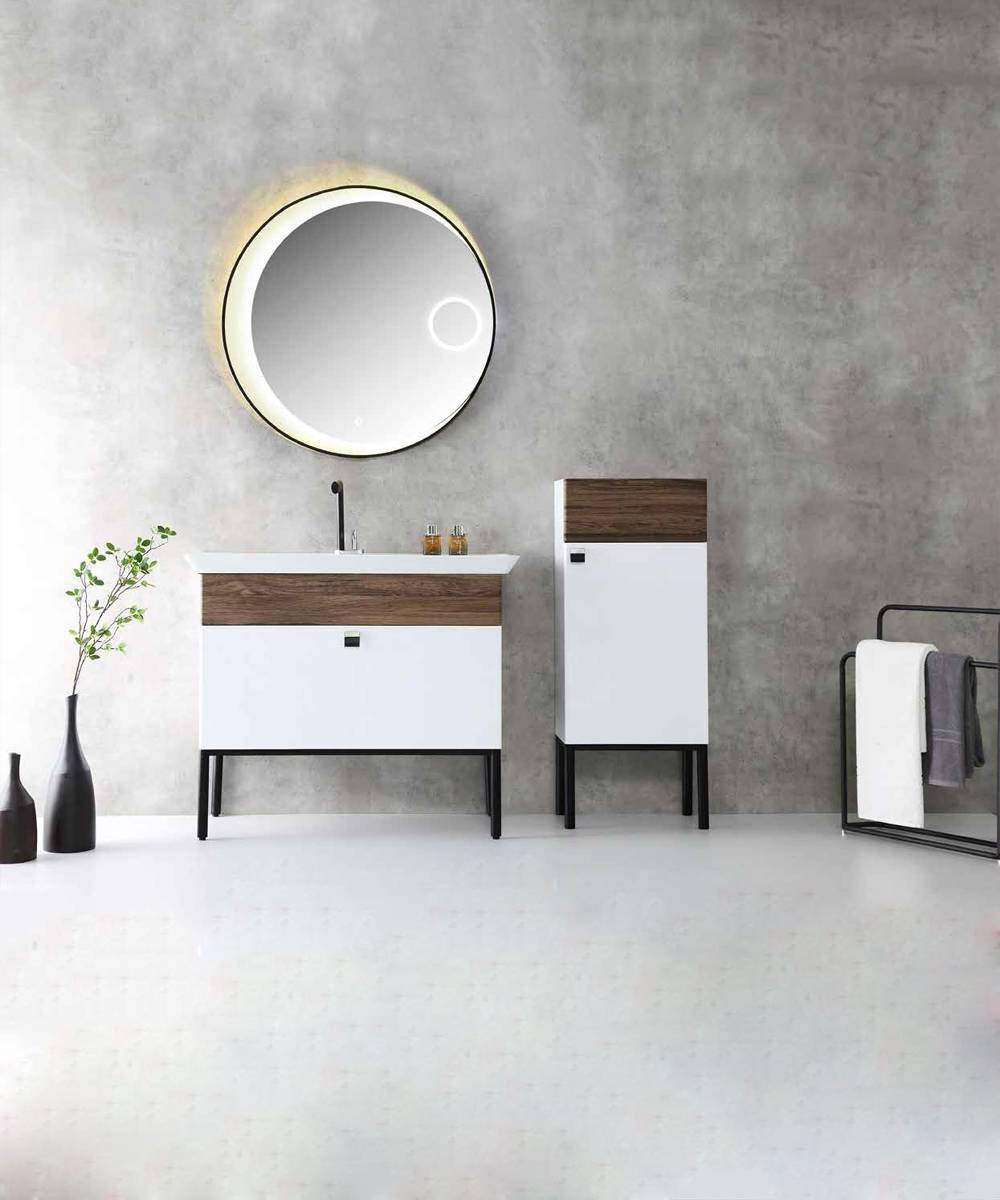 Floor Standing Bathroom Cabinet with Drawers - Bonita Series