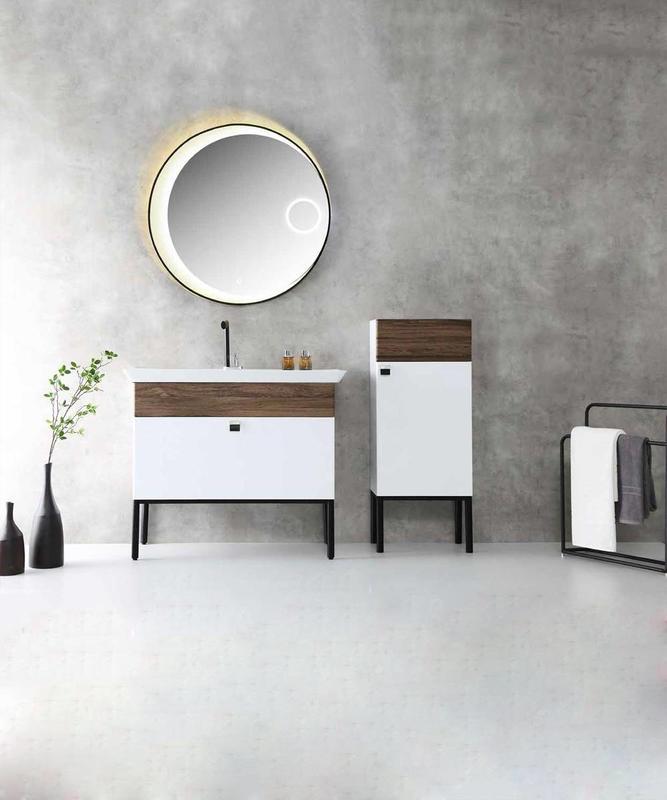 Floor Standing Bathroom Cabinet with Drawers - Bonita Series