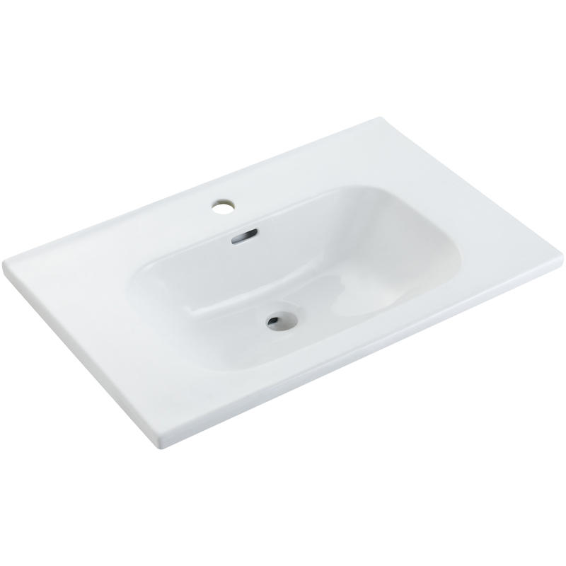White Ceramic Basin For Cabinet - TONO Series