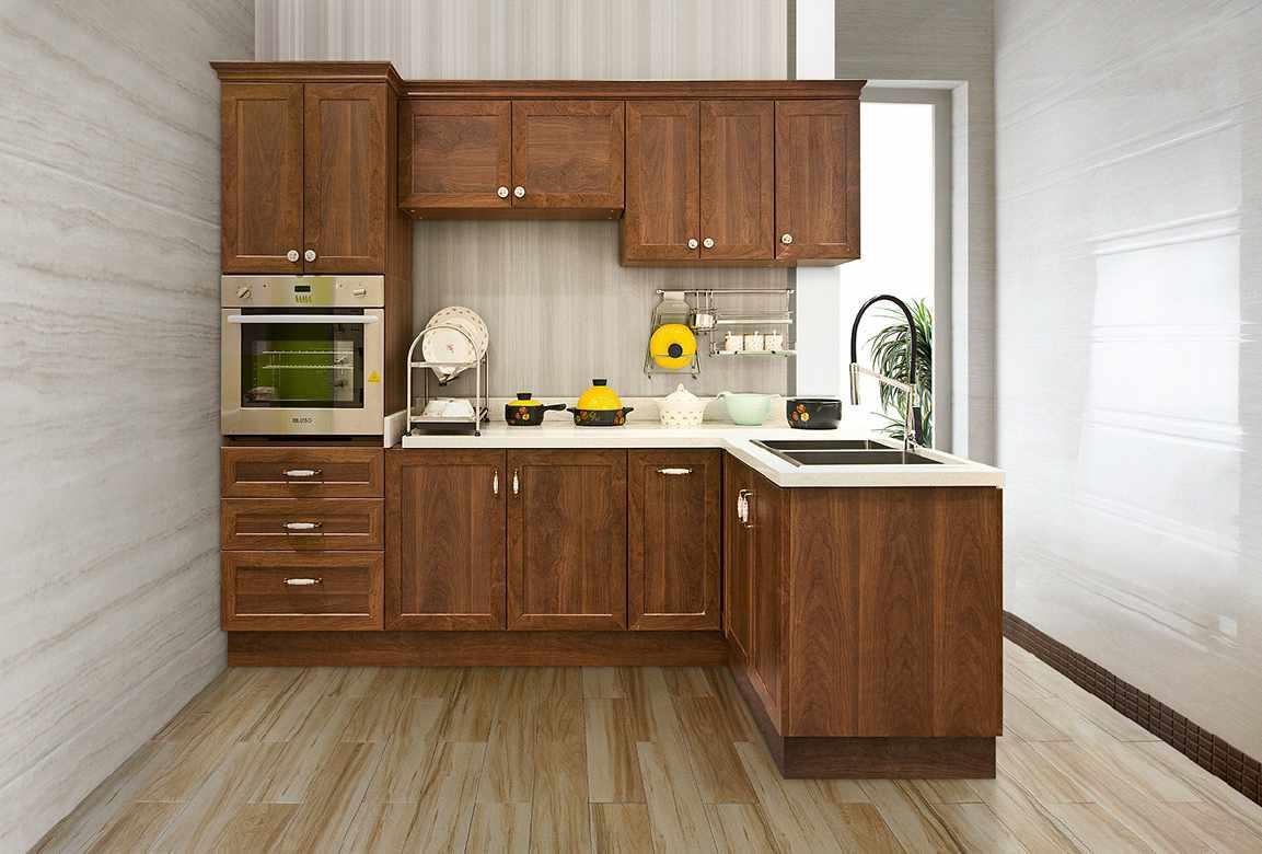 Waterproof Plywood With Melamine Surface Kitchen Cabinet
