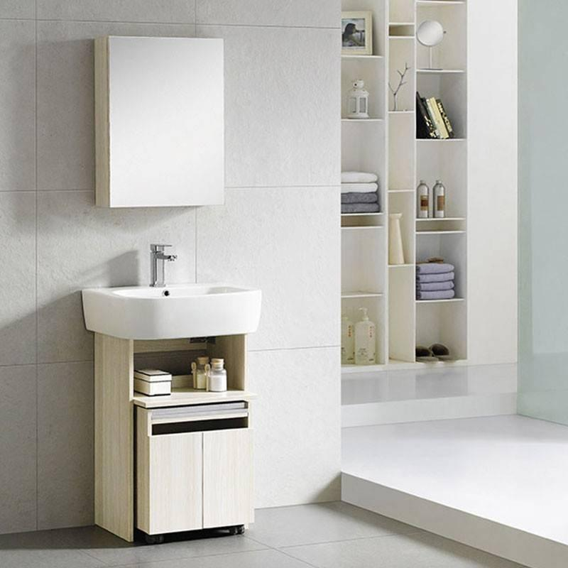 4-Legs Floor Standing Bathroom Cabinet Support with Shelf - Smurf Series