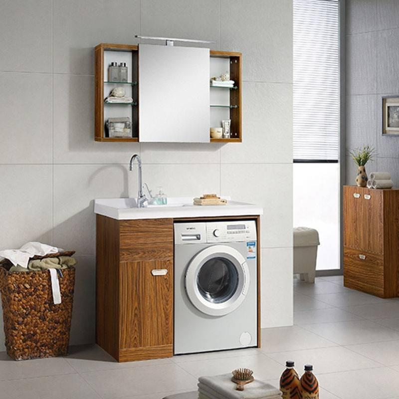 Laundry With One Door & Sink On The Left Or Right Side Stand Up Bathroom Cabinet - Feliz Series