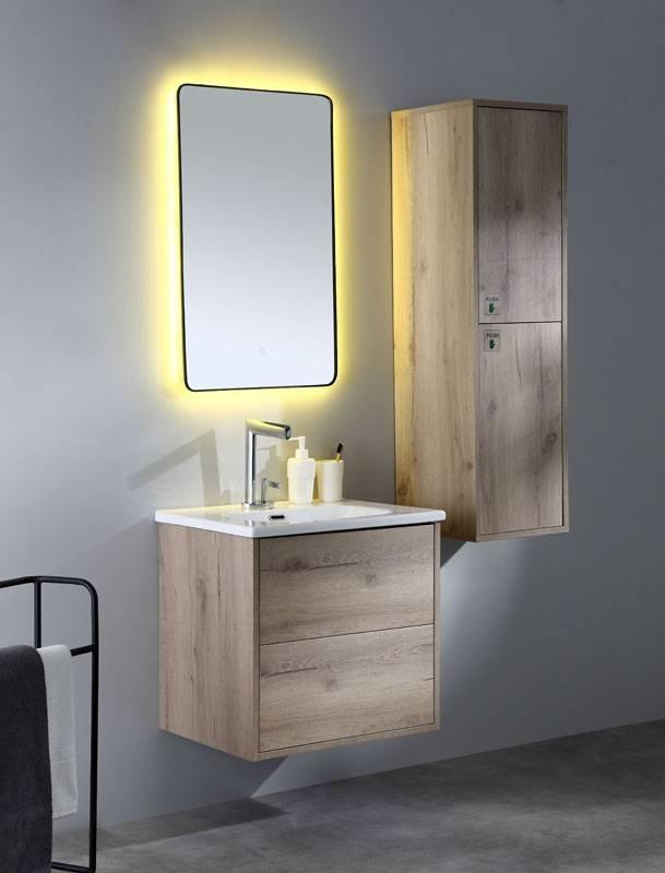 Canyon Oak or Cement Grey Wall Mounted  Bathroom Cabinet - Tono Series